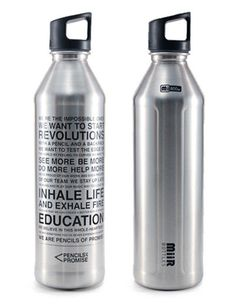 A portion of the proceeds from each limited edition MiiR bottle goes to support @Pencils of Promise to help bring education to children around the world.