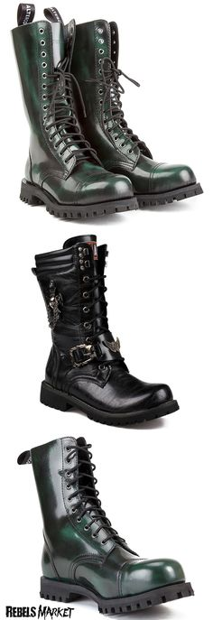 Shop men's punk boots at RebelsMarket.