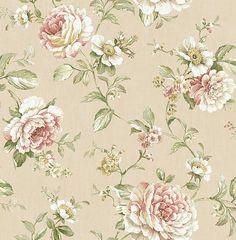 Cottage Elegance - Results from Botanical Wallpaper, Flower Wallpaper, Pattern Wallpaper, Floral Rug, Floral Prints, Floral Printables, Design Repeats, Blue Wallpapers, Textile Patterns