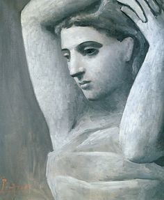 Pablo Picasso, Bust of a woman, arms raised on ArtStack #pablo-picasso #art