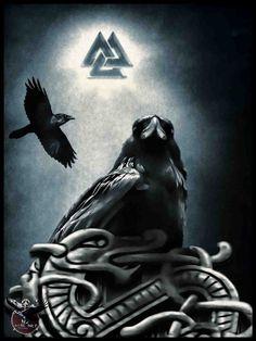 Ravens Huginn and Muninn by thecasperart on DeviantArt