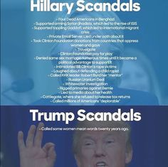 """Media doesn't want to expose Hillary's scandals only focus on Trump saying something """"mean"""" but honest!"""