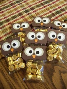 Cute Halloween Party Favor Trick Or Treat Candy Owl Bags For Mini Reeses Cups Great Gift Idea Hosting A