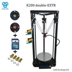 350.10$  Buy here - http://alijqf.worldwells.pw/go.php?t=32580682813 - He3D high quality Dual Extruder with heat bed reprap K200 3d printer delta 3d printer DIY kit -support muti material 350.10$