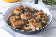 Kuřecí stehna s houbami a bramborovou kaší Meat, Chicken, Food, Essen, Meals, Yemek, Eten, Cubs