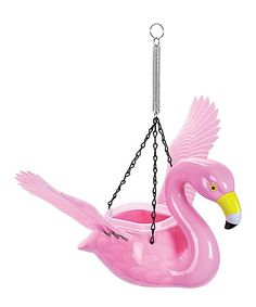 Flamingo Hanging Feeder/Planter
