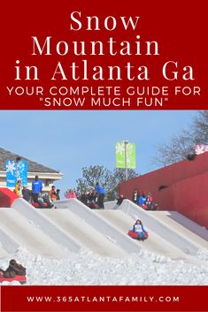 Have you been to Snow Mountain Ga? We love tubing at Snow Mountain withinStone Mountain Park, where every day is a snow day. You don't have to wait for mother nature to enjoy some wintertime fun. Snow Mountain Ga is especially fun for younger kids or those who have never seen snow. It's also fun for those Southerners who don't normally get to play in the snow. There are lots of different activities from tubing to building snowmen to s'mores.