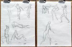 2015 Figure Drawing - Citrus College 1-Min. Gesture drawings in graphite (10 poses) Model: Lynn Prof. Mark Wessel #arielsartwork #figuredrawing #citruscollege #markwessel #art #drawing #gesture #gesturedrawing #bodylanguage #pose #anatomy #lifedrawing #sketch #model #modeldrawing #pencil #graphite