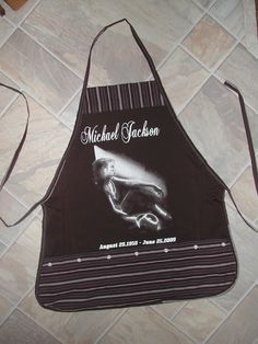 Michael Jackson Apron or Adult Bib by funfoodsaprons on Etsy