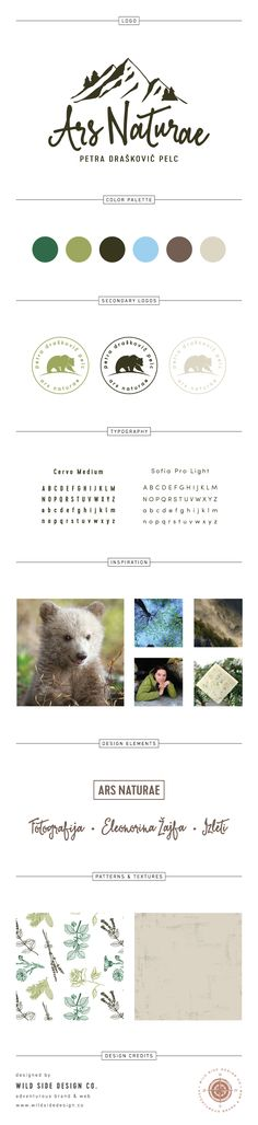 Brand Launch :: Brand Style Board :: Wildlife Photography & Tourism Branding :: Ars Naturae Brand Design :: #branding www.wildsidedesign.co