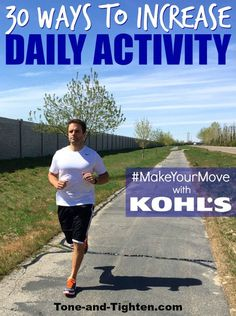 30 Ways To Be More Active – #MakeYourMove with Kohl's - dietandskinhelp.org -   Throughout my whole life, I have always loved to be active. The human body is fascinating in terms of its capabilities if it is treated the right way. I have always loved playing sports, being outdoors, running, weightlifting, etc. This passion is a primary reason that led me into my current career as a doctor of physical therapy. I understand the importance of staying healthy, strong, and act