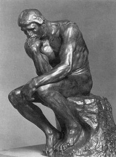 Auguste Rodin -  The Thinker  He made every muscle realistic