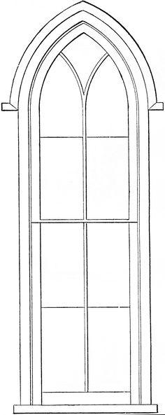 Gothic Church Windows Clip Art The Graphics Fairy - Clipart Suggest Cathedral Windows, Church Windows, Gothic Cathedral, Stained Glass Church, Stained Glass Windows, Church Backgrounds, Gothic Windows, Old Churches, Graphics Fairy