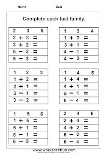 31 Best Math-Fact Families images in 2013 | Math facts, Math ...
