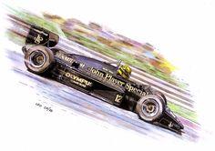 Ayrton Senna, Lotus 97T-Renault 1985 by Leotrek.deviantart.com on @DeviantArt