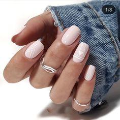 Square Nail Designs, Short Nail Designs, Simple Nail Designs, Latest Nail Designs, Pink Nails, My Nails, Cute Nails, Winter Nail Designs, Nail Polish Designs