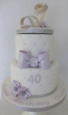 Jimmy Choo 40th Birthday Cake