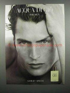 1998 Giorgio Armani Acqua Di Gio For Men Cologne Ad