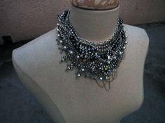 DIY-Tom-Binns-rhinestone-chains-pearl-chunky-choker-collar-necklace-11