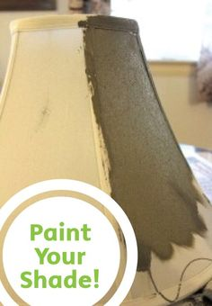 HOW TO PAINT A LAMP SHADE: Update a plain lamp shade with a bright coat of paint!