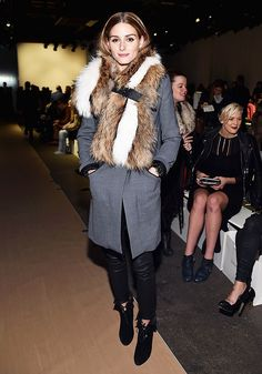 Olivia Palermo at the Zimmermann fashion show via @WhoWhatWear