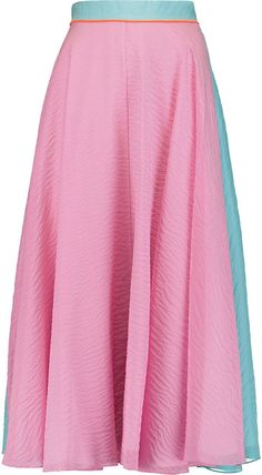 66edf756f1de Roksanda Heddan Silk-Blend Midi Skirt - ShopStyle Mid-length