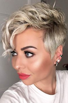 27 Easy Tips For Short Curly Pixie Ideas & Designs, short curly pixie haircut natural, short curly pixie videos, short curly pixie cut, short curly. Curly Pixie Haircuts, Short Curly Pixie, Pixie Haircut For Thick Hair, Short Haircuts, Hairstyles Haircuts, Latest Hairstyles, Curly Crop, Pixie Cut Curly Hair, Edgy Pixie Hairstyles