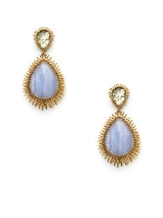 Double Gold Drop Earrings by Kendra Scott Jewelry - Found at #GiltLive via @GiltGroupe