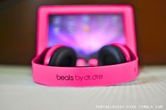 Beats by dr dre. WANT! <3 these are thee best sounding buds ever!!!!! My son has them! I want pink ones