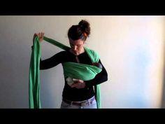 ▶ Fular BOBA WRAP cruz envuelta para amamantar - YouTube