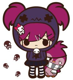punk-kawaii gilr !