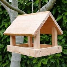 Wood Bird Feeder Please DON'T