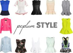 Peplum tops provide a gorgeous, classy silhouette.  Wear it with a simple pair of skinny jeans :)