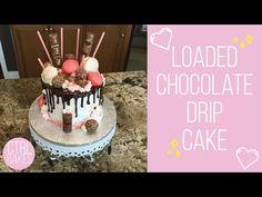 Loaded Chocolate Drip Cake | CTRLBAKES - YouTube Bolo Drip Cake, Drip Cakes, Chocolate Drip Cake, Bakery, Birthday Cake, Sun, Youtube, Desserts, Instagram