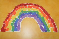 torn paper rainbows.  good for art station