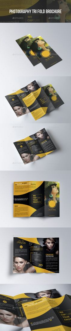 Photography TriFold Brochure — Photoshop PSD #camera #photography • Available here → https://graphicriver.net/item/photography-trifold-brochure/12294574?ref=pxcr