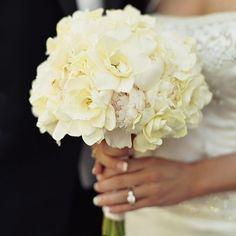 BM boquet.  replace white peonies for blush...White Peonies & Gardenias by Tara Guerard, Soiree