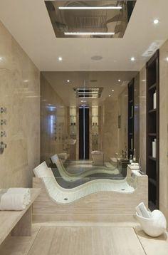 Wohnideen Badezimmer Badewanne Naturstein Ideen