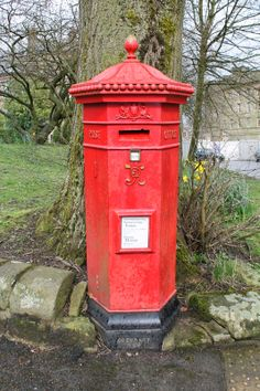 must get pillar box installed for delivery-men and fun neighbor mail!