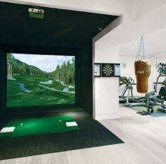 Man Cave isn't complete without a Golf Simulator. A definite must have!