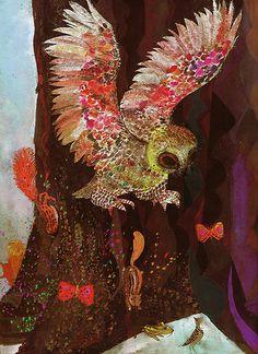 The Owl and The Woodpecker by MyOwlBarn, via Flickr