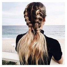 11 Ways to Wear Braided Pigtails That Don't Look Childish ❤ liked on Polyvore featuring accessories, hair accessories and hair