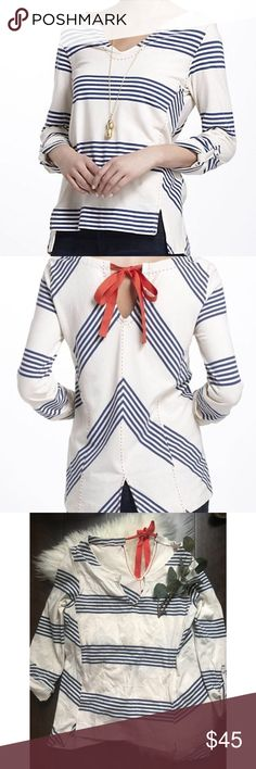 """Anthropologie Postmark Pick Stitched Stripe Top Anthropologie Postmark Pick Stitched Stripe Top. Size medium. EUC. Size tag is missing. 38"""" chest, 27"""" from shoulder to hem Anthropologie Tops"""