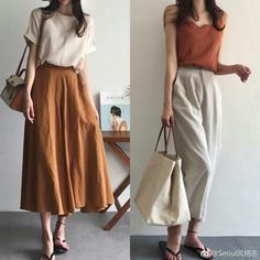 Summer Fashion For Mature Ladies .Summer Fashion For Mature Ladies Simple Outfits, Classy Outfits, Vintage Outfits, Casual Outfits, Vintage Fashion, Summer Outfits, Casual Dresses, Long Skirt Outfits, Girly Outfits