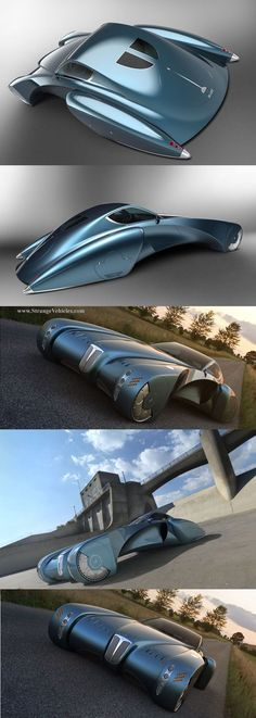 STRANGE CONCEPT CARS! - BUGATTO STRATOS SUPER CAR TYPE 57