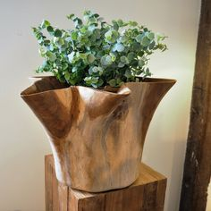 So many wonderful ideas for this reclaimed teak sculptured Flower bowl. It features a flared flower design and if a glass container is placed inside with water, it would be ideal for cut flowers, floating candles and flower tops, creating a unique decorative piece for any dining table.