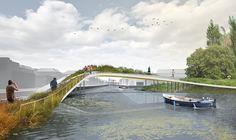 Design proposal for river renovation - SINGELPARK LEIDEN