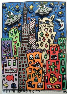 I will never have the opportunity to meet James Rizzi. Having discovered some of his last remaining work in Europe at the Galerie Art Drawings For Kids, Art For Kids, James Rizzi, Pop Art, 6th Grade Art, Ecole Art, Art Lessons Elementary, Arts Ed, Construction Paper