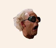 Doc Brown - Back to the Future | Christopher Lloyd Low Poly