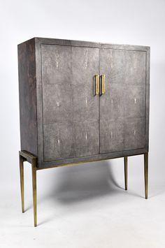 Graydon Shagreen Panel 4 Door Sideboard Furniture